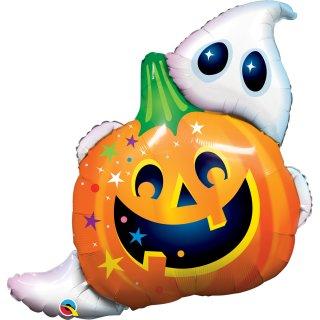 Folienballon Halloween Jack n Ghost