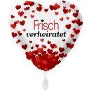 Folienballon Frisch Verheiratet Herzen groß