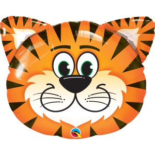 Folienballon Tickled Tiger Kopf