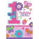 Einladungskarten Girl 1st Birthday Sweet Birthday Girl