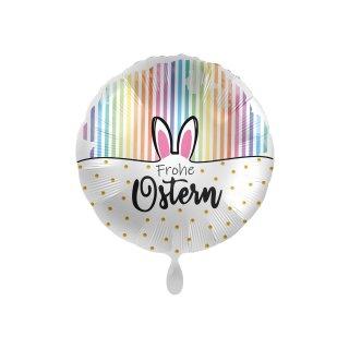 Folienballon Frohe Ostern Rainbow Stripes