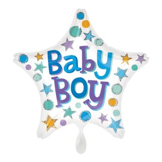 Folienballon Baby Boy Stern