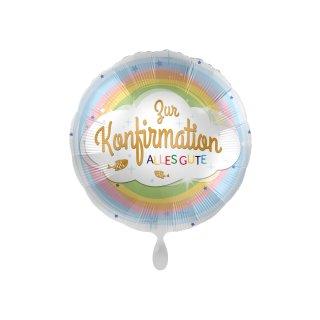 Folienballon Konfirmation Regenbogen