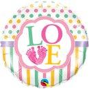 Folienballon Baby Girl LO(FEET)E