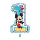 Folienballon Mickey - 1st Birthday groß