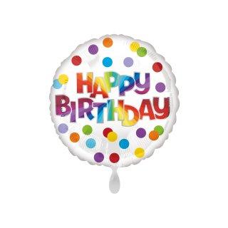 Folienballon Birthday Dots of Color