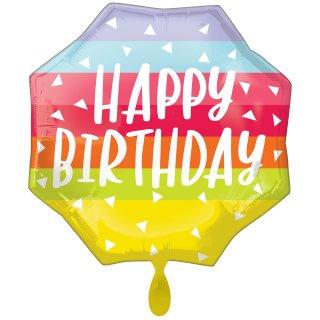Folienballon Bright and Bold Birthday groß