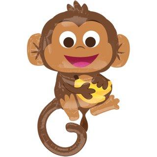 Folienballon Happy Monkey groß