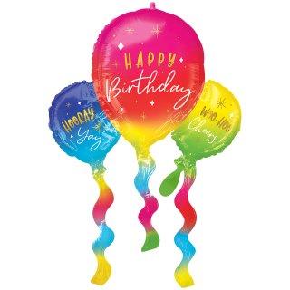 Folienballon Birthday Fun Balloons groß