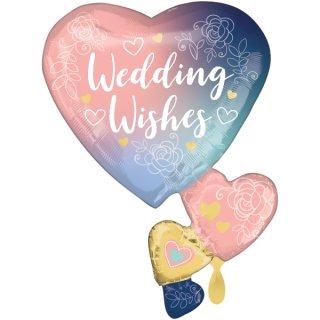 Folienballon Twilight Lace Wedding groß