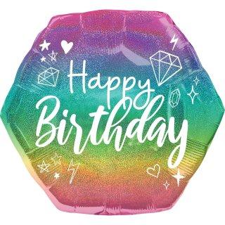Folienballon Sparkle Birthday groß