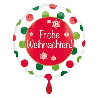 Folienballon Frohe Weihnachten