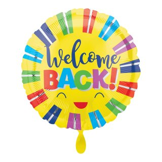 Folienballon Welcome Back Colorful Stripes