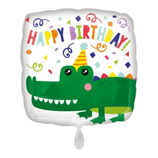 Folienballon Birthday Gator