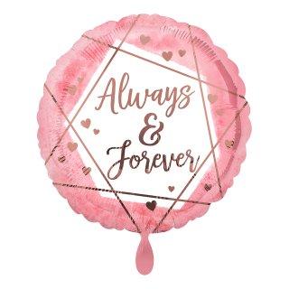 Folienballon Always & Forever Watercolour
