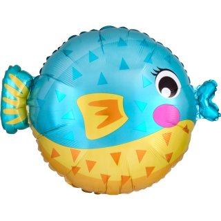 Folienballon Puffer Fish