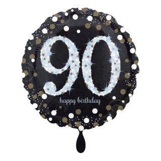 Folienballon Zahl 90 Sparkling Birthday