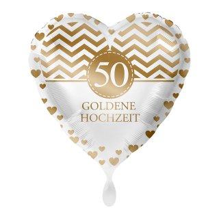 Folienballon Goldene Hochzeit