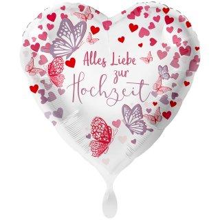 Folienballon Hochzeit Alles Liebe groß