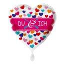 Folienballon Du & Ich