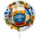 Folienballon Oktoberfest Bierglas groß