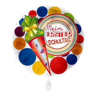 Folienballon Mein 1. Schultag Bunt