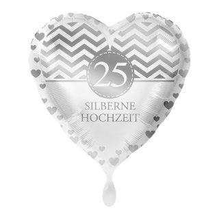 Folienballon Silberne Hochzeit