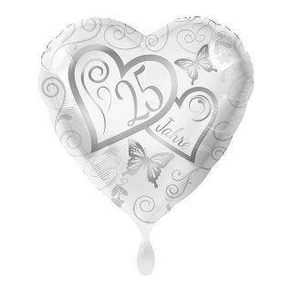 Folienballon Herzen 25 Jahre