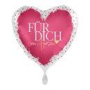 Folienballon Für Dich von Herzen