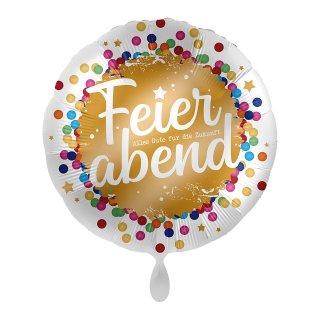 Folienballon Ruhestand Feierabend Konfetti