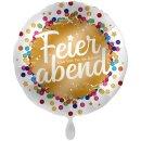 Folienballon Ruhestand Feierabend Konfetti groß