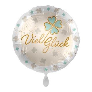 Folienballon Viel Glück Kleeblatt