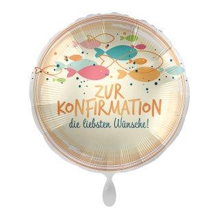 Folienballon Konfirmation Fish Swarm