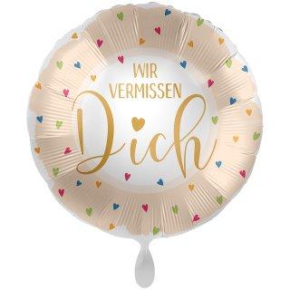 Folienballon Wir vermissen Dich groß