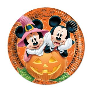 Pappteller Halloween Mickey Maus