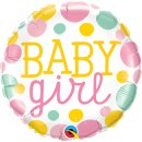 Folienballon Baby Girl Dots