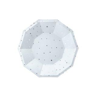 Pappteller Stars hellblau