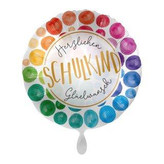 Folienballon Schulkind Herzlichen Glückwunsch