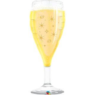 Folienballon Celebrate Bubbly Wine Glass