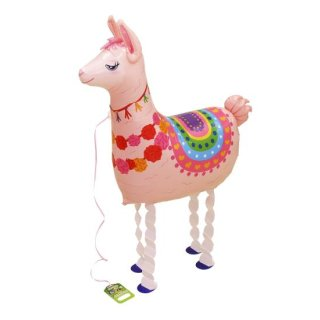 Folienballon Llama rosa Walking Balloon