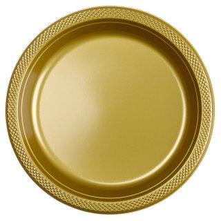 Plastikteller Gold