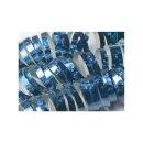 Luftschlangen hellblau holographic