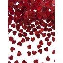 Folienkonfetti metallic rote Herzen klein