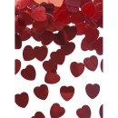 Folienkonfetti metallic rote Herzen