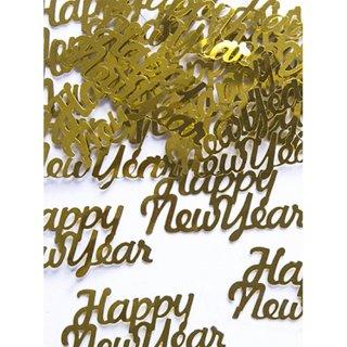 Folienkonfetti Happy New Year metallic gold