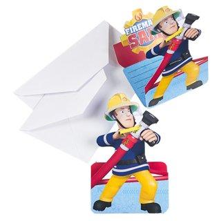 *R* Einladungskarten Feuerwehrmann Sam