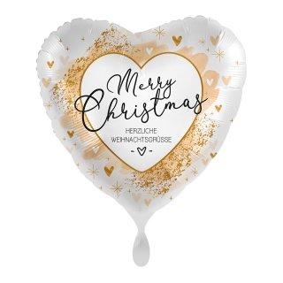 Folienballon Smooth Christmas Gold