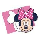 Einladungskarten Minnie I Love Dots mit Umschlägen