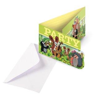 Einladungskarten Der kleine Maulwurf