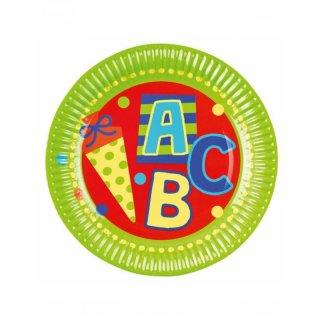 Pappteller ABC-Schulanfang